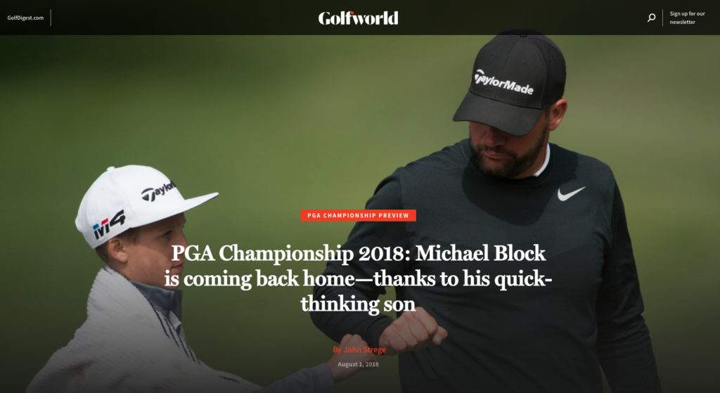 Golf Digest Article on Michael Block